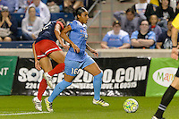Chicago, IL - Saturday Sept. 24, 2016: Samantha Johnson during a regular season National Women's Soccer League (NWSL) match between the Chicago Red Stars and the Washington Spirit at Toyota Park.