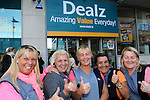 FREE PIC - NO REPRO FEE<br /> 24/09/2015 - Blackpool, Cork<br /> From left: Letitia Doherty, Trisha O'Donovan, Linda O'Hare, Caroline Condon, Helen O'Callaghan, staff from ISS Cleaners <br /> at the official opening of the new Dealz store at Blackpool Retail Park, Cork.<br /> Pic: Brian Lougheed