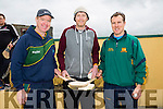 "Gerald Carroll,Padraig Regan and Ian Brick  at the KILMOYLEY Hurling club  Fun ""Poc Fada"" Long Puck competition which was held on the bank holiday weekend."