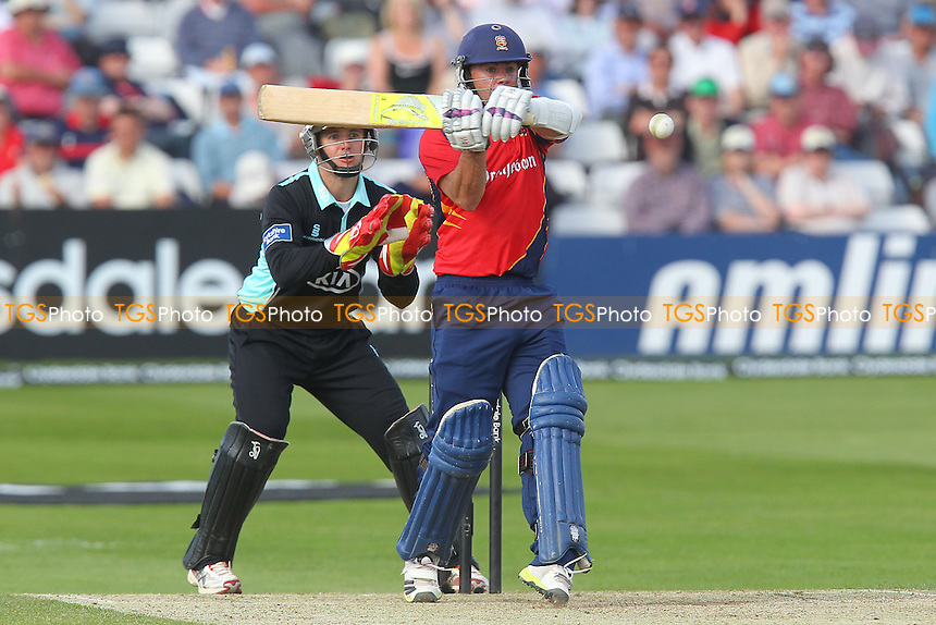 Mark Pettini in batting action for Essex as Steven Davies looks on - Essex Eagles vs Surrey Lions - Yorkshire Bank YB40 Cricket at the Essex County Ground, Chelmsford - 03/06/13 - MANDATORY CREDIT: Gavin Ellis/TGSPHOTO - Self billing applies where appropriate - 0845 094 6026 - contact@tgsphoto.co.uk - NO UNPAID USE
