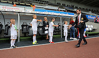 Pictured: Juan Mata of Manchester United arrives Sunday 30 August 2015<br /> Re: Premier League, Swansea v Manchester United at the Liberty Stadium, Swansea, UK