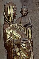 Europe/France/Auvergne/43/Haute-Loire/Brioude: La basilique Saint Julien - Vierge à l'enfant XIVème siècle