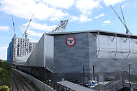 The new home of Brentford FC. London Irish RFU will also be playing at the Brentford Community Stadium once work has been completed and Government guidelines allow spectators into grounds during Brentford vs Swansea City, Sky Bet EFL Championship Play-Off Semi-Final 2nd Leg Football at Griffin Park on 29th July 2020