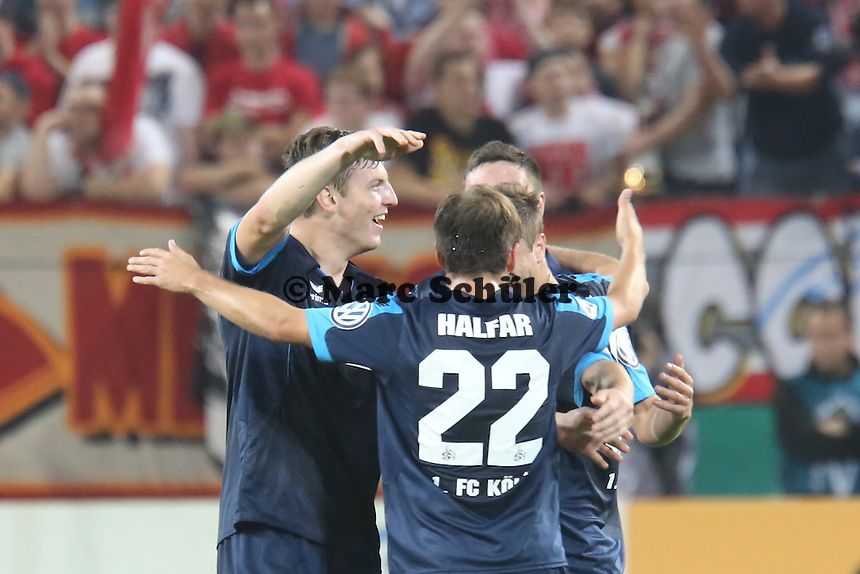 Schussjubel Köln - 1. FSV Mainz 05 vs. 1. FC Köln, Coface Arena, 2. Runde DFB-Pokal