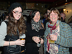 Ailbhe Rogers, Olive Corrigan and Sandra Rogers pictured at the Bagful of Songs Thin Lizzy tribute night in Sarsfield's. Photo:Colin Bell/pressphotos.ie