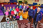 The students and staff of the Tralee Gymnastics Club in the Clash Business Park on Monday.<br /> Front l to r: Millie Dunne and Teresa Murphy <br /> Standing are Tricia O'Malley and John Murphy.