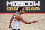 30.05.2015, Moskau, Vodny Stadion<br /> Moskau Grand Slam, Main Draw / Viertelfinale<br /> <br /> Jubel Jonathan Erdmann (#1 GER)<br /> <br />   Foto © nordphoto / Kurth