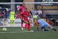 Rochester, NY - Saturday Aug. 27, 2016: Lynn Williams, Cami Privett during a regular season National Women's Soccer League (NWSL) match between the Western New York Flash and the Houston Dash at Rochester Rhinos Stadium.