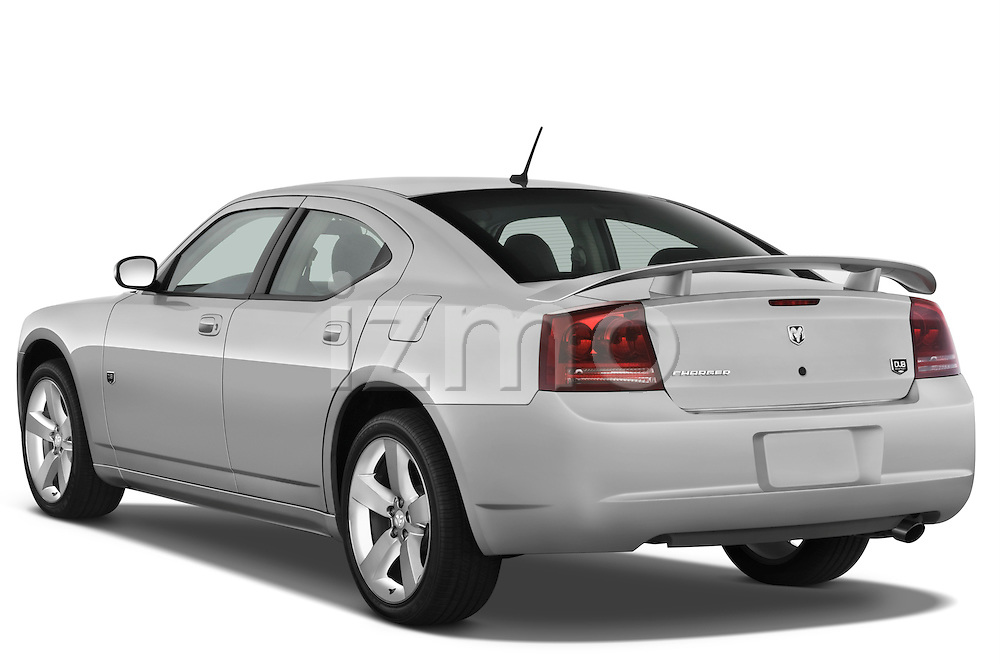 Rear three quarter view of a 2008 Dodge Charger Dub