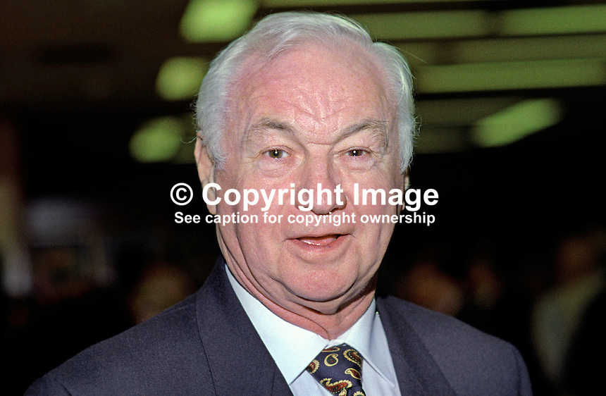 Sir Fergus Montgomery, MP, Conservative Party, UK, 19921067FM1.<br /> <br /> Copyright Image from Victor Patterson, 54 Dorchester Park, Belfast, UK, BT9 6RJ<br /> <br /> t: +44 28 90661296<br /> m: +44 7802 353836<br /> vm: +44 20 88167153<br /> e1: victorpatterson@me.com<br /> e2: victorpatterson@gmail.com<br /> <br /> For my Terms and Conditions of Use go to www.victorpatterson.com