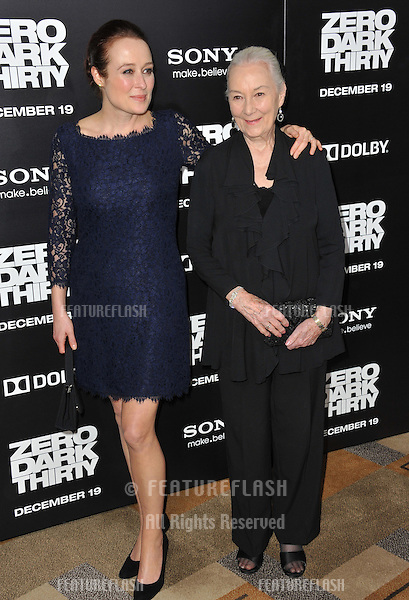 "Rosemary Harris & daughter Jennifer Ehle at the premiere of Ehle's movie ""Zero Dark Thirty"" at the Dolby Theatre, Hollywood..December 10, 2012  Los Angeles, CA.Picture: Paul Smith / Featureflash"