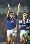 Ian Ferguson celebrates scoring for Rangers