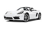Stock pictures of low aggressive front three quarter view of 2019 Porsche 718-Boxster S 2 Door Convertible Low Aggressive
