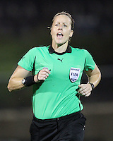 Referee Margaret Domka during a WPS match against the Philadelphia Independence on August 4 2010 at the Maryland Soccerplex, in Boyds, Maryland. Freedom won 2-0.