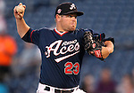 Reno Aces' Matt Gorgen pitches against the Sacramento River Cats in a minor league baseball game in Reno, Nev., on Wednesday, June 12, 2013. Sacramento won 9-7.<br /> Photo by Cathleen Allison