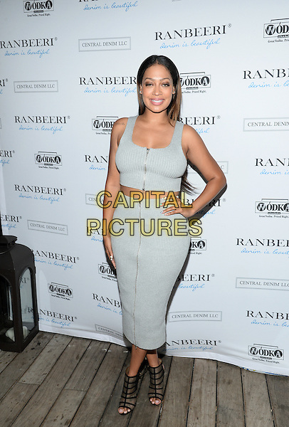 NEW YORK, NY - AUGUST  4: Actress La La Anthony pictured at THE RANBEERI  DENIM  LAUNCH PARTY  at The James Hotel Hotel/Jimmy Rooftop in New York City  on August 4, 2015 in New York City<br /> CAP/MPI/PLURTN<br /> &copy;RTNPLU/MediaPunch/Capital Pictures