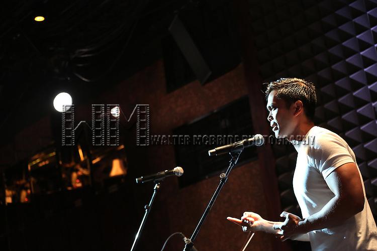 Jose Llana in rehearsal for 'The Lord & The Master - Broadwayworld.com sings Andrew Lloyd Webber & Stephen Sondheim'  at Joe's Pub on June 16, 2014 in New York City.