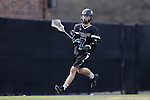 12 February 2017: CSU's Jake Lewis. The Duke University Blue Devils hosted the Cleveland State University Vikings at Koskinen Stadium in Durham, North Carolina in a 2017 Division I College Men's Lacrosse match. Duke won the game 22-7 in overtime.