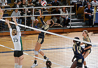 Florida International University women's volleyball player Andrea Lakovic (1) plays against Tulane University.  FIU won the match 3-2 on September 9, 2011 at Miami, Florida. .