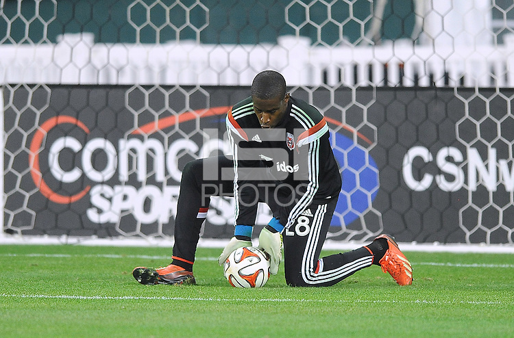 Washington D.C. - March 8, 2014: Bill Hamid (28) of D.C. United. The Columbus Crew defeated D.C. United 3-0 during the opening game of the 2014 season at RFK Stadium.