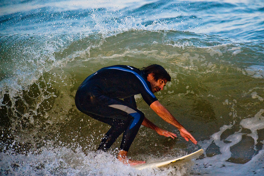 Barrel surfing in Ocean City, Maryland.