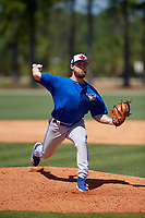 Toronto Blue Jays Cre Finfrock (26) during a Minor League Spring Training game against the Detroit Tigers on March 22, 2019 at the TigerTown Complex in Lakeland, Florida.  (Mike Janes/Four Seam Images)