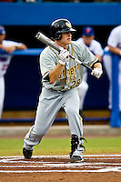 June 06, 2009:  NCAA Super Regional: Florida Gators vs Southern Miss Golden Eagles:   Southern Miss 2B James Ewing (28) lays down a bunt attempt during game one of Super Regional action at Alfred A. McKethan Stadium on the campus of University of Florida in Gainesville.   Southern Miss defeated Florida 9-7 to take a 1-0 lead in the series............