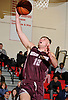 Josh Pismeny #10 of Deer Park drives to the net for two points during a Suffolk County League IV varsity boys basketball game against host Half Hollow Hills West High School on Thursday, Dec. 21, 2017. Deer Park won by a score of 62-38.