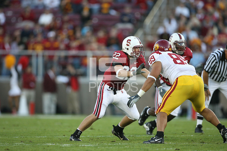 4 November 2006: Bo McNally during Stanford's 42-0 loss to USC at Stanford Stadium in Stanford, CA.