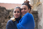 "Spanish actress Inma Cuesta and Candela Peña on the set of the movie ""Las Ovejas No Pierden El Tren"". in Segovia, Spain. April 01, 2014. (ALTERPHOTOS/Carlos Dafonte)"