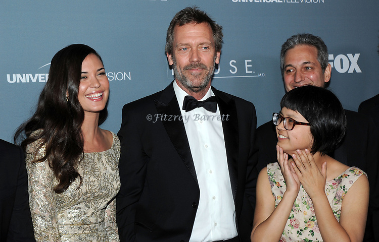 Odette Annable, Hugh Laurie and Charlyne Yi attending the House Series  Finale Wrap Party, held at Cicada's in Los Angeles, CA. April 20, 2012