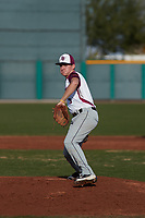 Eric Carter (5) of Sky View High School in North Logan, Utah during the Baseball Factory All-America Pre-Season Tournament, powered by Under Armour, on January 14, 2018 at Sloan Park Complex in Mesa, Arizona.  (Freek Bouw/Four Seam Images)