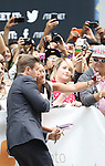 Allen Leech with fans attending the Red Carpet Arrivals for 'The Imitation Game' at the Princess of Whales Theatre during the 2014 Toronto International Film Festival on September 9, 2014 in Toronto, Canada.