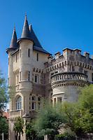 France, Aquitaine, Pyrénées-Atlantiques, Pays Basque,  Biarritz :  Villa Roche Ronde, Château-fort néo-gothique de 1884  //  France, Pyrenees Atlantiques, Basque Country, Biarritz : Roche Ronde villa, néo-gothic castle