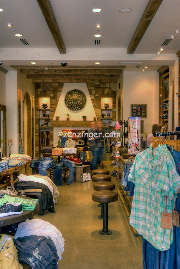 True Religion, Clothing Store, Santa Monica Place, shopping mall, open-air design,  Santa Monica; CA; High dynamic range imaging (HDRI or HDR)