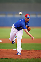 Tulsa Drillers starting pitcher Chris Anderson (32) delivers a pitch during a game against the Arkansas Travelers on April 25, 2016 at ONEOK Field in Tulsa, Oklahoma.  Tulsa defeated Arkansas 4-3.  (Mike Janes/Four Seam Images)