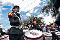 BOGOTÁ - COLOMBIA, 20-07-2018: Bandas marciales durante el desfile Militar del 20 de Julio con motivo del 208 Aniversario de la Independencia de Colombia realizado por las calles de la ciudad de Bogotá. /MArtial Bands during July 20th Military Parade on the occasion of the 208th Anniversary Independence of Colombia that took place trough the streets of Bogota city. Photo: VizzorImage / Nicolas Aleman / Cont