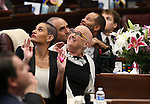 Nevada Sen. Debbie Smith, D-Sparks, and her daughter Erin Marlon look up to the gallery from the Senate floor at the Legislative Building in Carson City, Nev., on Wednesday, April 8, 2015. Smith returned to work Wednesday, two months after having a malignant brain tumor removed. <br /> Photo by Cathleen Allison