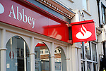 Abbey is part of the Santander Group - one of the ten largest banks in the world by market capitalisation. It has attracted savers looking for a safe haven from the financial crisis affecting UK banking. Lowestoft, Suffolk, England.
