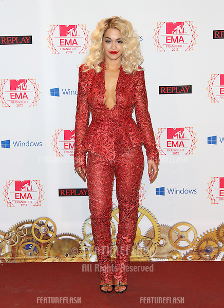 Rita Ora in the press room for the The MTV EMA's 2012 held at Festhalle, Frankfurt, Germany. 11/11/2012 Picture by: Henry Harris / Featureflash