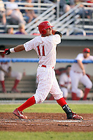 August 4th, 2007:  Paul Vasquez of the Batavia Muckdogs, Short-Season Class-A affiliate of the St. Louis Cardinals at Dwyer Stadium in Batavia, NY.  Photo by:  Mike Janes/Four Seam Images