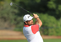 Shane Lowry (IRL) on the 11th fairway during the preview for the DP World Tour Championship at the Earth course,  Jumeirah Golf Estates in Dubai, UAE,  18/11/2015.<br /> Picture: Golffile | Thos Caffrey<br /> <br /> All photo usage must carry mandatory copyright credit (&copy; Golffile | Thos Caffrey)
