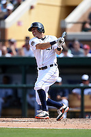 Detroit Tigers second baseman Ian Kinsler (3) during a Spring Training game against the Miami Marlins on March 25, 2015 at Joker Marchant Stadium in Lakeland, Florida.  Detroit defeated Miami 8-4.  (Mike Janes/Four Seam Images)