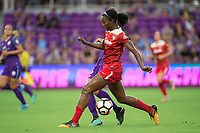 Orlando, FL - Tuesday August 08, 2017: Cheyna Williams during a regular season National Women's Soccer League (NWSL) match between the Orlando Pride and the Chicago Red Stars at Orlando City Stadium.
