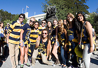 California fans pose together for group pictures before the game against Northwestern at Memorial Stadium in Berkeley, California on August 31st, 2013.  Northwestern defeated CAL, 44-30.