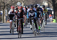 The Men's D Criterium race at the Nittany Cycling Classic hosted by Penn State Cycling in State College, Pa., on April 20, 2014. Photo/©2014 Craig Houtz