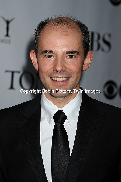"actor Daniel Evans , star of ""Sunday in the Park with George"".posing for photographers at the 62nd Annual Tony Awards.on June 15, 2008 at Radio City Music Hall. ..Robin Platzer, Twin Images"