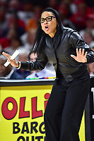 College Park, MD - NOV 13, 2017: South Carolina Gamecocks head coach Dawn Staley yells out a play from the sideline during game between No. 4 ranked South Carolina and the No. 15 Maryland Terrapins at the XFINITY Center in College Park, MD. The Gamecocks defeated Maryland 94-86.  (Photo by Phil Peters/Media Images International)