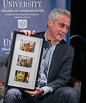 Chicago Mayor Rahm Emanuel Visits DePaul Center for Journalism Integrity & Excellence January, 2019