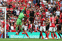 Charlton goalkeeper, Dillon Phillips punches the ball clear during Charlton Athletic vs Sunderland AFC, Sky Bet EFL League 1 Play-Off Final Football at Wembley Stadium on 26th May 2019